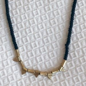Loft gold and beaded necklace